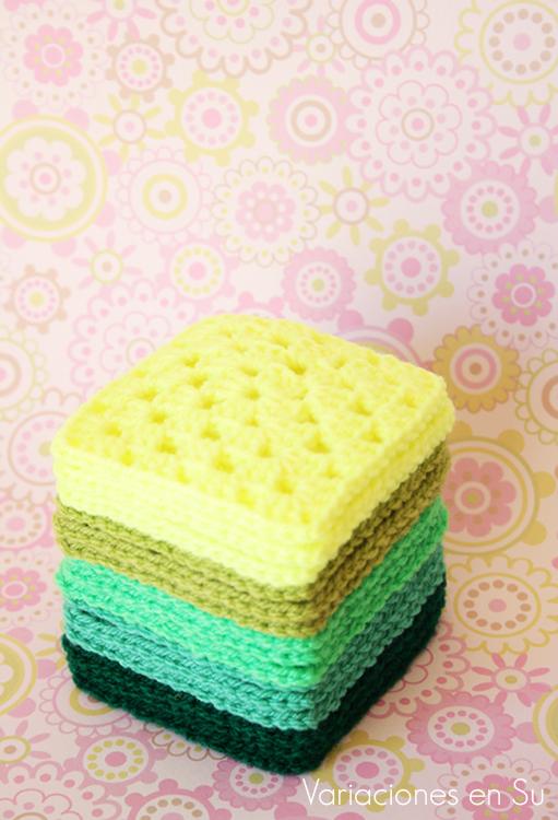 green-crochet-granny-squares