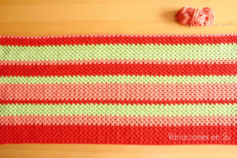 green-red-crochet-blanket-WIP