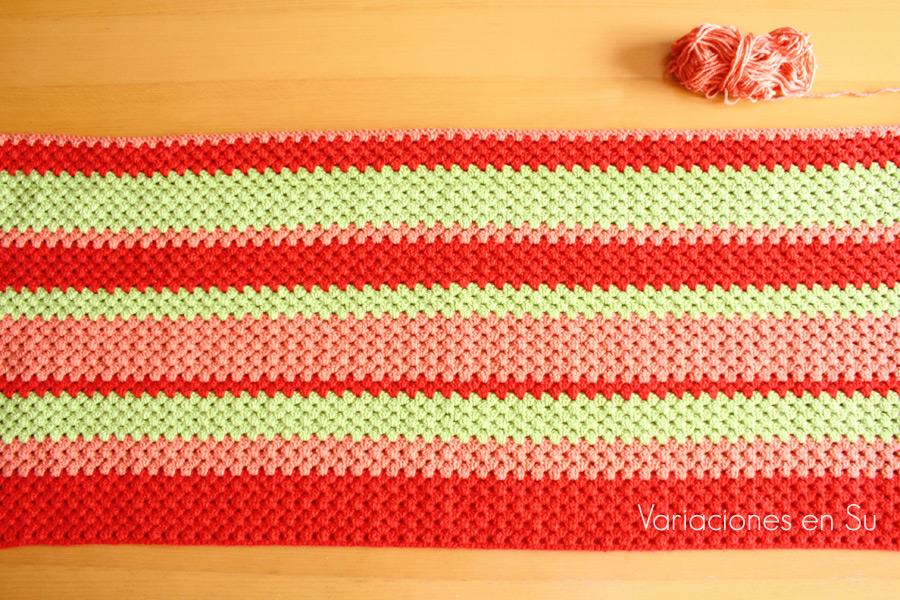 green-red-crochet-blanket-WIP