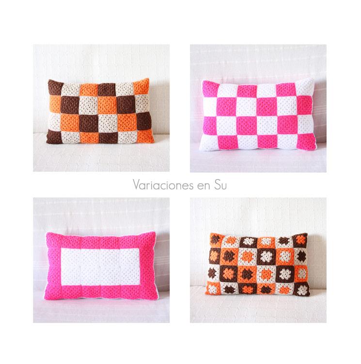 Cushion Love. Some of my crochet cushions.